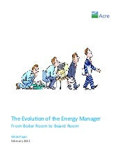 The Evolution of the Energy Manager
