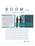 Could the Boom Take You into a Career in Executive Benefits Consulting?