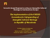 The implementation of the UNESCO Co...