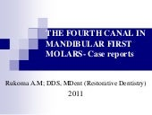 The fourth canal in mandibular firs...