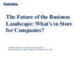 The Future of the Business Landscape