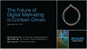 The Future of Digital Marketing is Context-Driven
