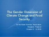 The Gender Dimension Of Climate Cha...