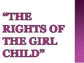 The girl child rights