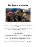 The glorious uncertainty - Horse Racing in Uk