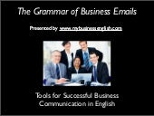 The Grammar of Business English Emails