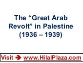 "The ""Great Arab Revolt"" in Palestin..."