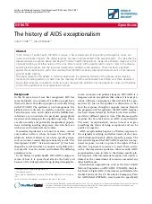 The history of aids exceptionalism ...