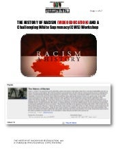 The History of Racism and a Challen...