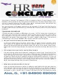 World Tourism Day - 2014: HR Conclave Concept Note