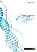 The Identity Theft Checklist – Guidance for the general public.nz