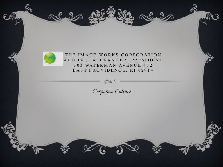 The Image Works Corporation Corporate Culture