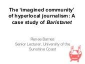 Renee Barnes, 'The 'imagined commun...