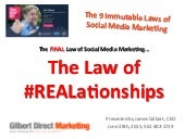 The immutable law of social media #REALationships #smdaysfl 2015