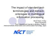The impact of standardized terminol...