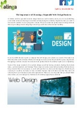 The Importance of Choosing a Reputable Web Design Business