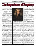 The Importance Of Prophecy By Sir Isaac Newton  -  Prophecy In The News Magazine   August 2006
