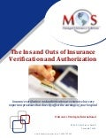 The ins and outs of insurance verification and authorization