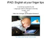 iPAD: English at your fingertips
