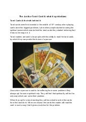 The justice tarot card & what it sy...