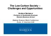 The low carbon society   challenges...