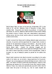 The man: Dr. Patrick Ifeanyi Ubah