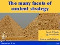The many facets of content strategy