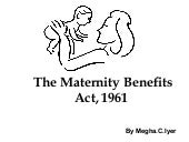 The Maternity Benefits Act, 1961