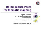 Using geobrowsers for thematic mapping