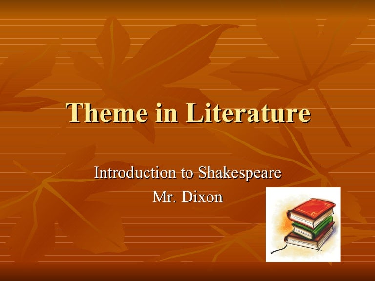 Themes In Literature Examples
