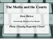 The Media and the Courts