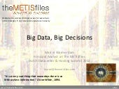 Big Data, Big Decisions