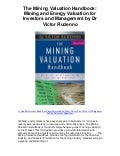 The mining valuation handbook mining and energy valuation for investors and management by dr victor rudenno   5 star review