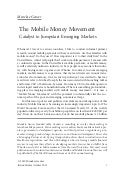 The mobile money movement by mpay connect dec 2010   innovations publication winter 2011