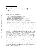 The multiverse interpretation of qu...