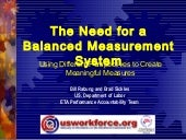 The need for a balanced measurement system