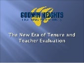 The new era of tenure and teacher e...