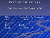 The new kesenian kals 5