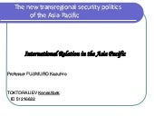 The new trans regional politics in ...