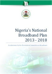 The nigerian national broadband plan