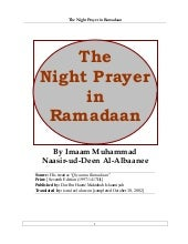 The Night Prayer In Ramadan