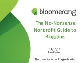 The No-Nonsense Nonprofit Guide to Blogging