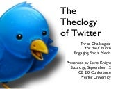 The Theology Of Twitter