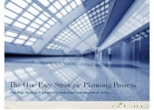 The One Page Strategic Planning pro...