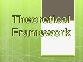 What does theoretical framework mean?