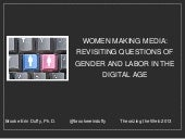Women Making Media: Revisiting Ques...