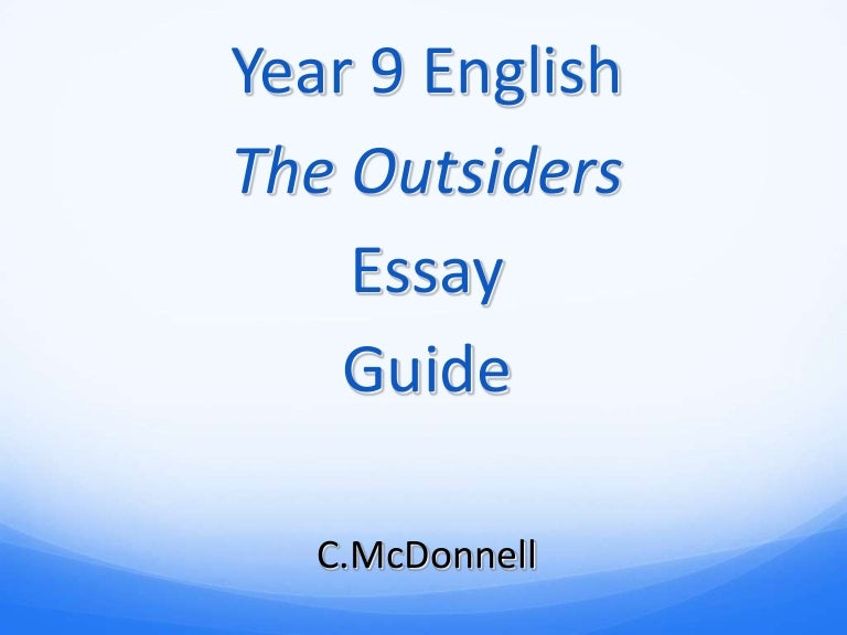 Outsiders essay