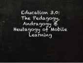 Education 3.0: Mobile Learning
