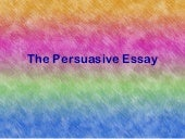 The persuasive essay juniors