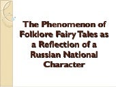 The Phenomenon of Folklore Fairy Ta...